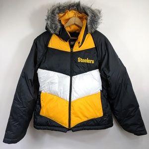 NFL Pittsburgh Steelers convertible puffer coat